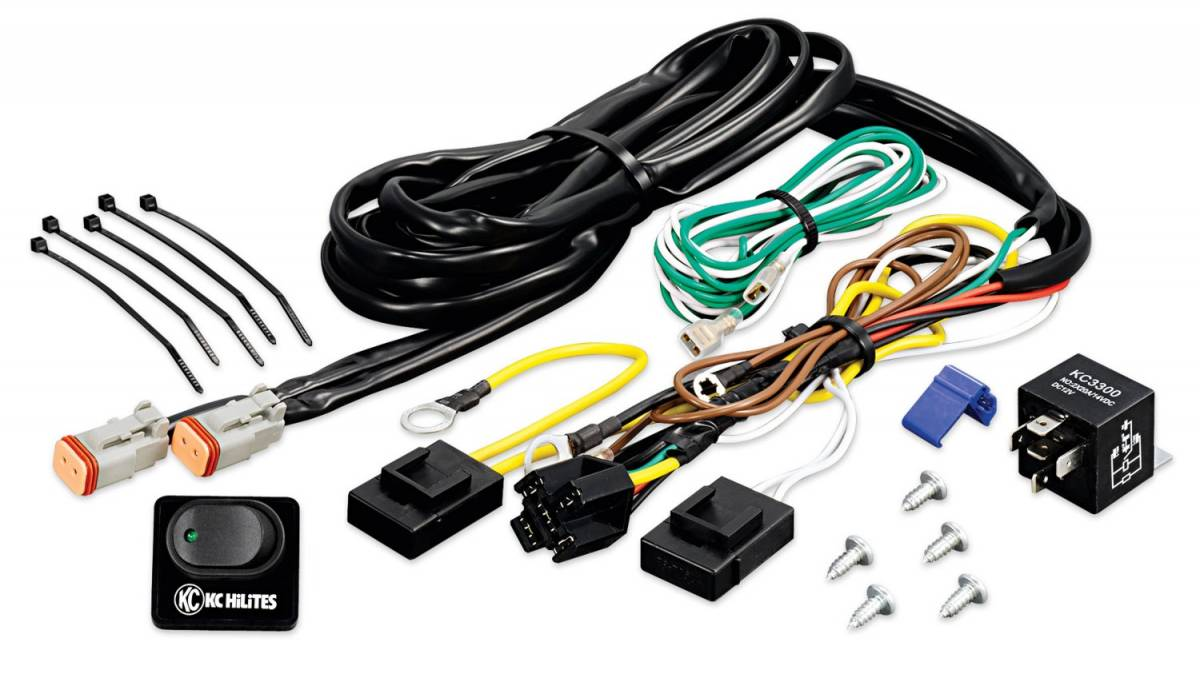 KC HiLiTES #6315 Wiring Harness with 40 Amp Relay and LED Rocker ...