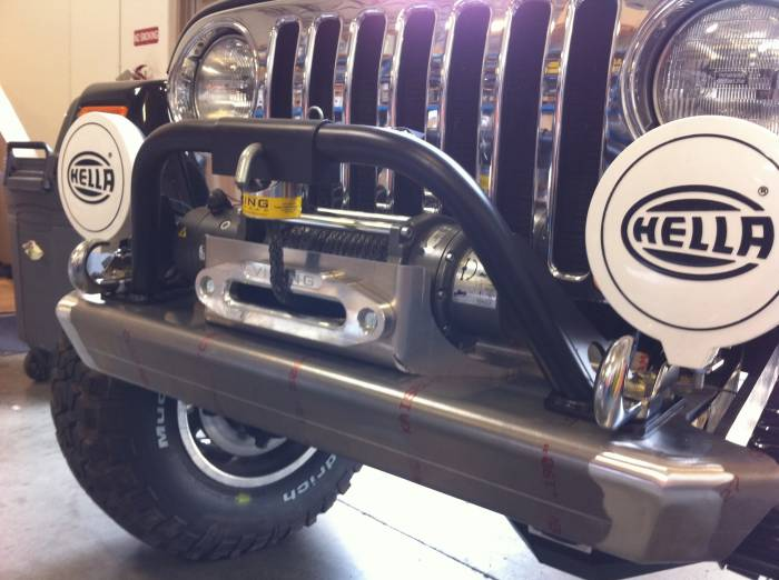Savvy Off-Road - Savvy Winch Guard for 1997-2006 Jeep Wrangler TJ/LJ and 2007+ Jeep Wrangler JK BMP-WG