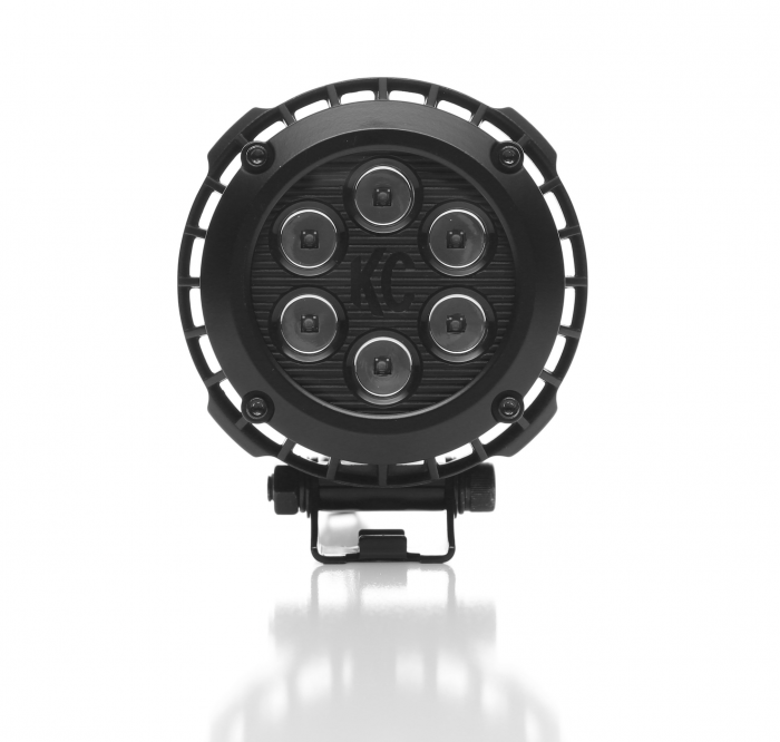 "KC HiLiTES - KC HiLiTES 4"" Round LZR LED Pair Pack System - Black - KC #300 300"