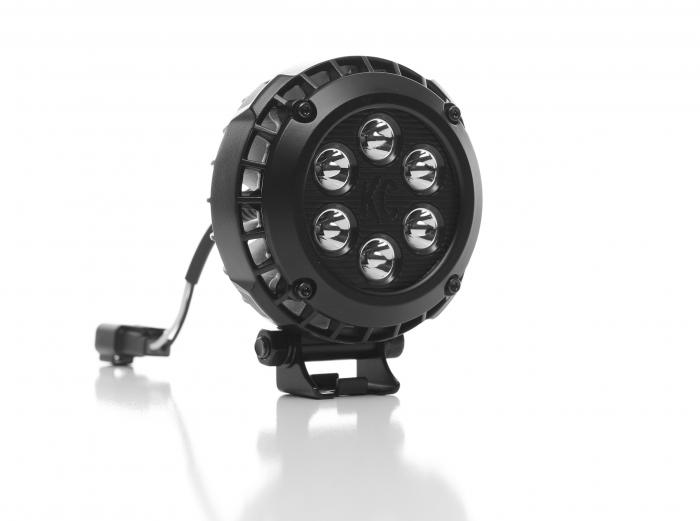 """KC HiLiTES - KC HiLiTES 4"""" Round LZR LED Single Light - Black - KC #1300 1300"""