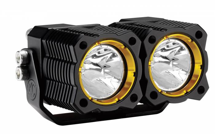 KC HiLiTES - KC HiLiTES KC FLEX LED Dual Spot Light (ea) - No Harness - #1267 1267