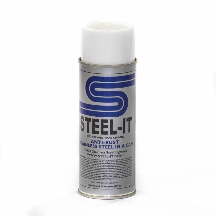 Steel-It - Steel-It Polyurethane Aerosol Spray 14 oz Can FGPA1012B Black