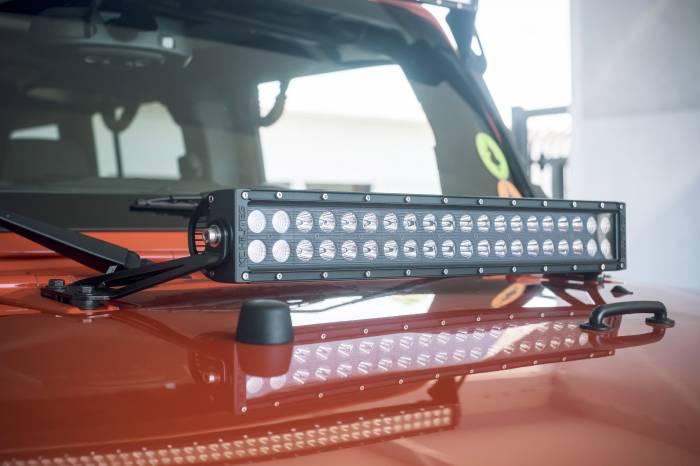 """KC HiLiTES - KC HiLiTES 20"""" C20 C-SERIES LED Hood Mount System for 2007-2017 Jeep JK Wrangler - #364 364"""