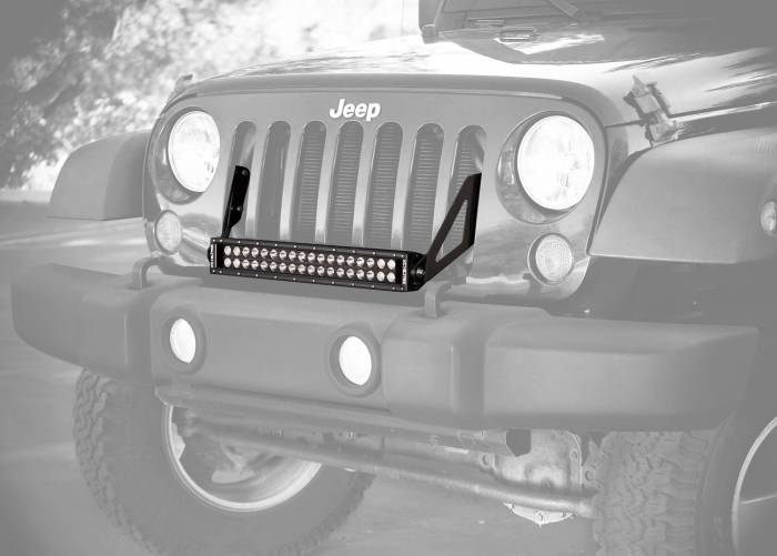 "KC HiLiTES - KC HiLiTES 20"" C Series C20 LED Bar & Grill Mount Bracket Kit - Jeep JK 07-16 - KC #368 368"
