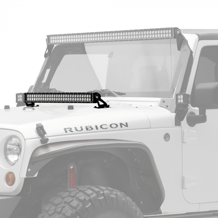 "KC HiLiTES - KC HiLiTES 30"" C-Series C30 LED Bar & Hood Mount Bracket Kit - Jeep JK 07-16 - KC #367 367"
