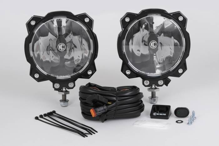 KC HiLiTES - KC HiLiTES Gravity LED Pro6 Single Pair Pack System Wide-40 Beam ?Çô #91305 91305