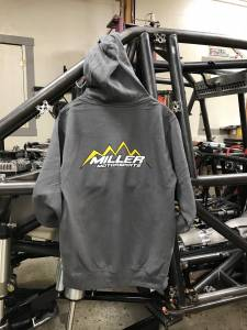 Miller Motorsports - Miller Motorsports Light Gray Zip Up Hoodie - Image 2