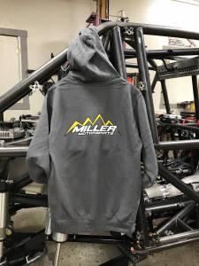 Miller Motorsports - Miller Motorsports Light Gray Zip Up Hoodie - Image 2