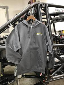 Miller Motorsports - Miller Motorsports Light Gray Zip Up Hoodie - Image 3