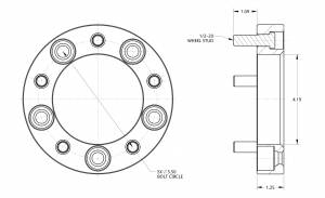 """Spidertrax Off-Road - Spidertrax Jeep 5 on 5-1/2"""" x 1-1/4"""" Thick Wheel Spacer Kit - Image 2"""
