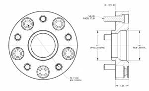 """Spidertrax Off-Road - Spidertrax Jeep 5 on 5"""" x 1-1/4"""" Thick Wheel Spacer Kit - Image 2"""