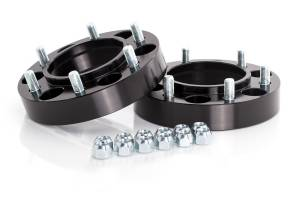 "Wheels & Spacers - Wheel Spacers - Spidertrax Off-Road - Spidertrax Toyota 6 on 5-1/2"" x 1-1/4"" Thick Black Wheel Spacer Kit"