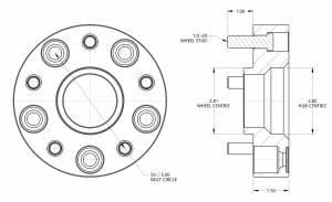 """Spidertrax Off-Road - Spidertrax Jeep 5 on 5"""" x 1-1/2"""" Thick Wheel Spacer Kit - Image 2"""