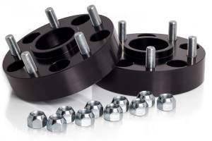 "Wheels & Spacers - Wheel Spacers - Spidertrax Off-Road - Spidertrax Jeep 5 on 5"" x 1-1/2"" Thick Black Wheel Spacer Kit"