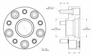 """Spidertrax Off-Road - Spidertrax Nissan 6 on 4-1/2"""" x 1-1/2"""" Thick Wheel Spacer Kit - Image 5"""