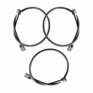 Brakes - Brake Lines - Rock Krawler Suspension - Long Travel Stainless Steel Brake Line Kit 97-06 Wrangler TJ Rock Krawler