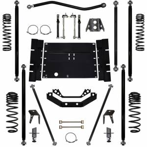 Rock Krawler Suspension - 3.5 Inch Long Arm Lift Kit 03-06 Wrangler TJ Off Road Pro 5 Stretch Rock Krawler