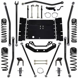 "Long Arm Lift Kits - 5.5"" Systems - Rock Krawler Suspension - 5.5 Inch Long Arm Lift Kit W/5 Stretch 97-02 Wrangler TJ X Factor Rock Krawler"
