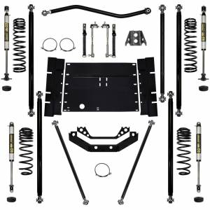 "Long Arm Lift Kits - 2.0"" Systems - Rock Krawler Suspension - 2 Inch Lift Kit 97-02 Wrangler TJ W/Shocks Off Road Pro Stg 1 Rock Krawler"
