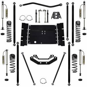 "Long Arm Lift Kits - 2.0"" Systems - Rock Krawler Suspension - 2 Inch Lift Kit 97-02 Wrangler TJ W/Remote Reservoir Shocks Off Road Pro Stg 2 Rock Krawler"