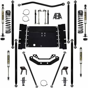 "Long Arm Lift Kits - 2.0"" Systems - Rock Krawler Suspension - 2 Inch Lift Kit W/Shocks 97-02 Wrangler TJ Off Road Pro W/5 Stretch Stg 1 Rock Krawler"