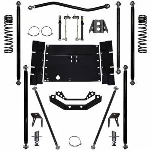 Rock Krawler Suspension - 2 Inch Lift Kit 03-06 Wrangler TJ Off Road Pro W/5 Stretch Rock Krawler