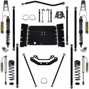 Rock Krawler Suspension - 2 Inch Long Arm Lift Kit W/Remote Reservoir Coil Over Shocks Stg 2 Off Road Pro 03-06 Wrangler TJ Rock Krawler
