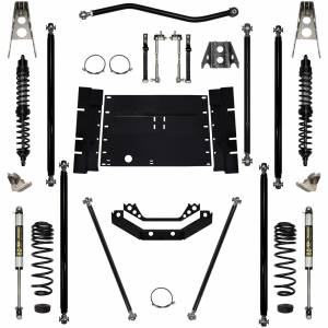 Rock Krawler Suspension - 2 Inch Long Arm Lift Kit W/Coil Over Shocks Stg 1 Off Road Pro 97-02 Wrangler TJ Rock Krawler