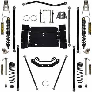 "Long Arm Lift Kits - 2.0"" Systems - Rock Krawler Suspension - 2 Inch Long Arm Lift Kit W/Remote Reservoir Coil Over Shocks Stg 2 Off Road Pro 03-06 Wrangler TJ Rock Krawler"