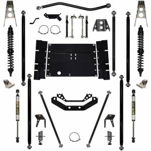 Rock Krawler Suspension - 2 Inch Long Arm Lift Kit W/Coil Over Shocks Stg 1 5 Stretch Off Road Pro 97-02 Wrangler TJ Rock Krawler