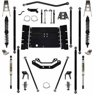 "Long Arm Lift Kits - 2.0"" Systems - Rock Krawler Suspension - 2 Inch Long Arm Lift Kit W/Coil Over Shocks Stg 1 5 Stretch Off Road Pro 97-02 Wrangler TJ Rock Krawler"