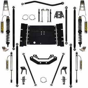 Rock Krawler Suspension - 2 Inch Long Arm Lift Kit W/Remote Reservoir Coil Over Shocks Stg 2 5 Stretch Off Road Pro 97-02 Wrangler TJ Rock Krawler