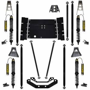 "Long Arm Lift Kits - 2.0"" Systems - Rock Krawler Suspension - 2 Inch Long Arm Lift Kit W/Remote Reservoir Coil Over Shocks Rock Runner Stg 2 97-02 Wrangler TJ Rock Krawler"