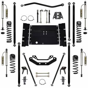 Rock Krawler Suspension - 3.5 Inch Long Arm Lift Kit W/Remote Reservoir Shocks W/5 Stretch Off Road Pro Stg 2 97-02 Wrangler TJ Rock Krawler