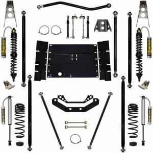 Rock Krawler Suspension - 3.5 Inch Corp Long Arm Lift Kit W/Reservoir Coil Over Shocks Stg 2 97-02 Wrangler TJ Rock Krawler
