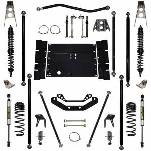 Rock Krawler Suspension - 3.5 Inch Long Arm Lift Kit W/Coil Over Shocks Stg 1 5 Stretch Off Road Pro 97-02 Wrangler TJ Rock Krawler