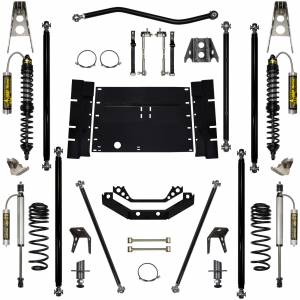 Rock Krawler Suspension - 3.5 Inch Long Arm Lift Kit W/Remote Reservoir Coil Over Shocks Stg 2 5 Stretch Off Road Pro 97-02 Wrangler TJ Rock Krawler