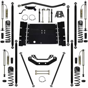 "Long Arm Lift Kits - 5.5"" Systems - Rock Krawler Suspension - 5.5 Inch Long Arm Lift Kit W/Remote Reservoir Shocks Stg 2 97-02 Wrangler TJ Rock Krawler"