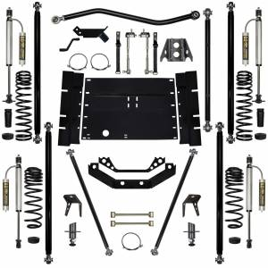 "Long Arm Lift Kits - 5.5"" Systems - Rock Krawler Suspension - 5.5 Inch Long Arm Lift Kit Remote Reservoir Shocks W/5 Stretch Off Road Pro Stg 2 97-02 Wrangler TJ Rock Krawler"