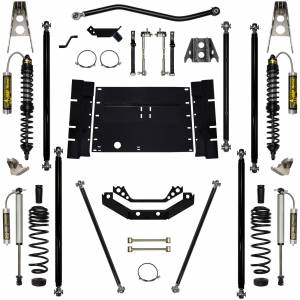 "Long Arm Lift Kits - 5.5"" Systems - Rock Krawler Suspension - 5.5 Inch Long Arm Lift Kit Remote Reservoir Coil Over Shocks Off Road Pro Stg 2 97-02 Wrangler TJ Rock Krawler"