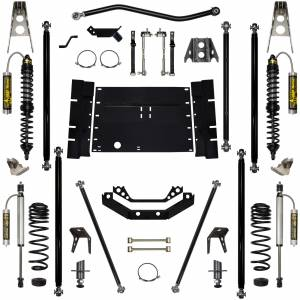 "Long Arm Lift Kits - 5.5"" Systems - Rock Krawler Suspension - 5.5 Inch Long Arm Lift Kit W/Remote Reservoir Coil Over Shocks 5 Stretch Stg 2 Off Road Pro 97-02 Wrangler TJ Rock Krawler"