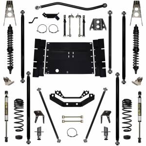 "Long Arm Lift Kits - 5.5"" Systems - Rock Krawler Suspension - 5.5 Inch Long Arm Lift Kit W/Coil Over Shocks 5 Stretch Stg 1 Off Road Pro 03-06 Wrangler TJ Rock Krawler"