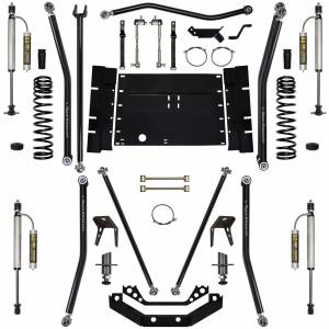"Long Arm Lift Kits - 5.5"" Systems - Rock Krawler Suspension - 5.5 Inch Long Arm Lift Kit W/Remote Reservoir Shocks 03-06 Wrangler TJ Stg 2 X Factor 8 Stretch Rock Krawler"