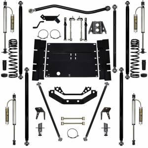 "Long Arm Lift Kits - 5.5"" Systems - Rock Krawler Suspension - 5.5 Inch Long Arm Lift Kit Remote Reservoir Shocks W/8 Stretch Off Road Pro Stg 2 97-02 Wrangler TJ Rock Krawler"