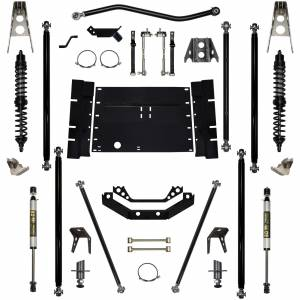 "Long Arm Lift Kits - 5.5"" Systems - Rock Krawler Suspension - 5.5 Inch Long Arm Lift Kit W/Coil Over Shocks 8 Stretch Stg 1Off Road Pro 97-02 Wrangler TJ Rock Krawler"