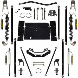 "Long Arm Lift Kits - 5.5"" Systems - Rock Krawler Suspension - 5.5 Inch Long Arm Lift Kit W/Remote Reservoir Coil Over Shocks 8 Stretch Stg 2 Off Road Pro 97-02 Wrangler TJ Rock Krawler"