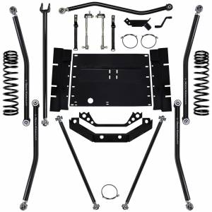 "Long Arm Lift Kits - 5.5"" Systems - Rock Krawler Suspension - 5.5 Inch Long Arm Lift Kit W/12 Stretch 97-02 Wrangler TJ X Factor Rock Krawler"