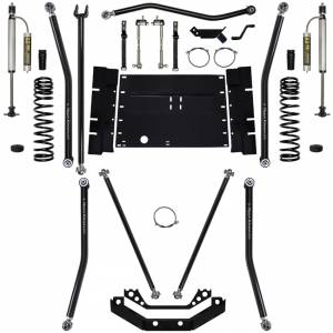 "Long Arm Lift Kits - 5.5"" Systems - Rock Krawler Suspension - 5.5 Inch Long Arm Lift Kit W/Remote Reservoir Shocks 97-02 Wrangler TJ Stg 2 X Factor 12 Stretch Rock Krawler"