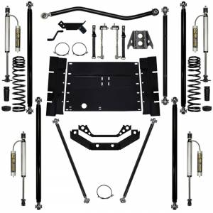 "Long Arm Lift Kits - 5.5"" Systems - Rock Krawler Suspension - 5.5 Inch Long Arm Lift Kit W/Remote Reservoir Shocks 12 Stretch Stg 2 Off Road Pro 97-02 Wrangler TJ Rock Krawler"