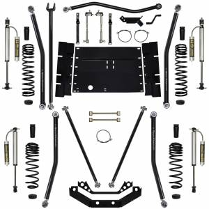 "Long Arm Lift Kits - 5.5"" Systems - Rock Krawler Suspension - 5.5 Inch Long Arm Lift Kit W/Remote Reservoir Shocks Stg 2 97-02 Wrangler TJ X Factor  Rock Krawler"